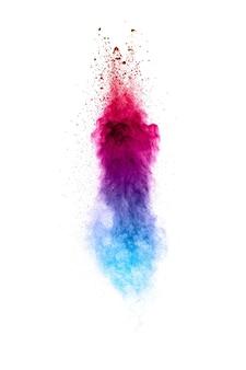 Éclaboussure de poudre bleu rose.