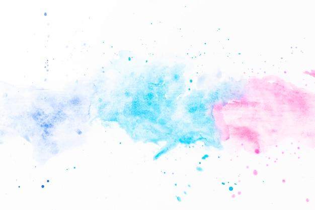 Éclaboussures d'aquarelle turquoise et fuchsia