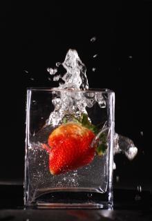 Éclaboussures de fraises