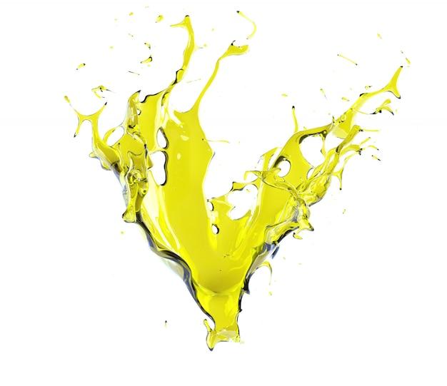 Éclaboussures d'huile moteur isolé