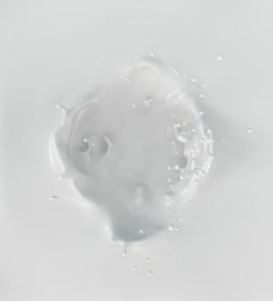 Éclaboussures de lait ou de yaourt