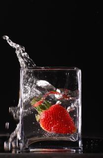 Éclaboussures notion de fraises