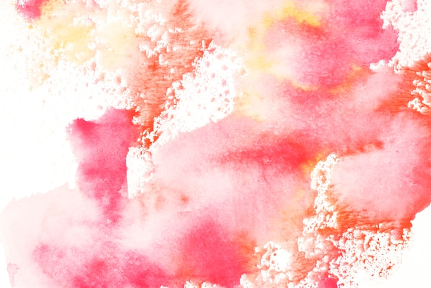 Éclaboussures de toile de fond aquarelle rouge