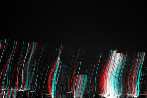 Éclairage abstrait cityscape noise glitch error