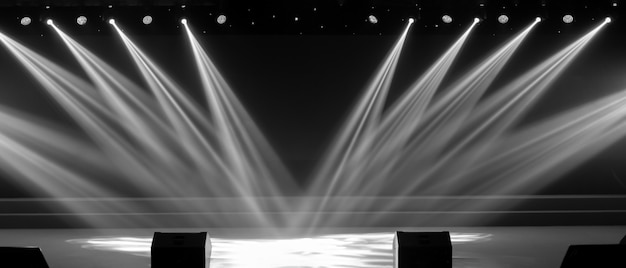 Eclairage de concert dans une salle de concert