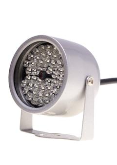 Éclairage de nuit d'illuminateurs infrarouges pour les systèmes de sécurité et la surveillance vidéo isolés sur blanc