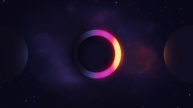Eclipse 3d illustration galaxie de l'espace extra-atmosphérique pour votre arrière-plan ou votre fond d'écran
