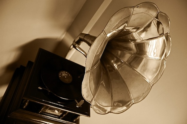 L'école de musique phonographe vieux tourne-disque vynil disque