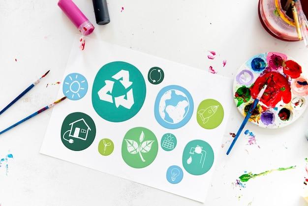 L'écologie de la durabilité enregistrer le concept de l'environnement