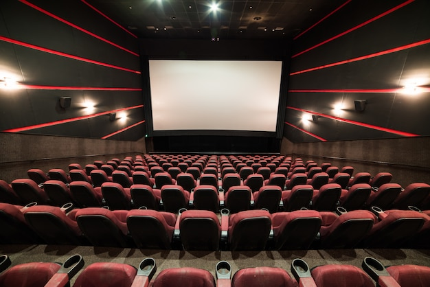 Écran de cinéma blanc