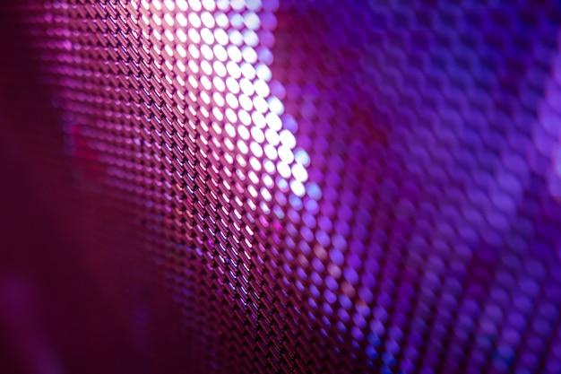 Écran flou de closeup led. arrière-plan flou led. abstrait abstrait idéal pour la conception.