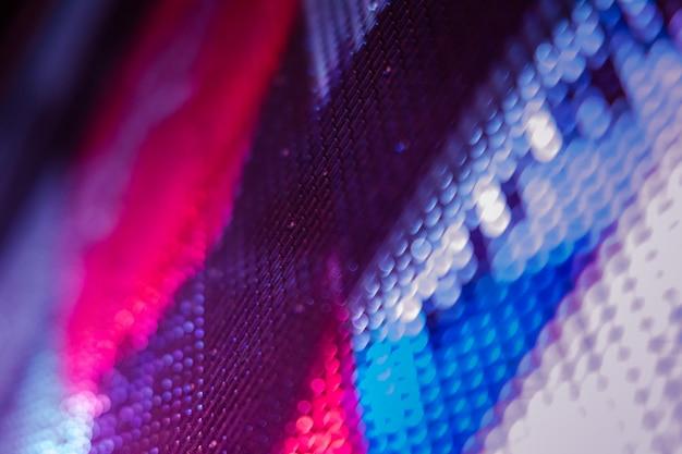 Écran flou de closeup led. arrière-plan flou led. fond abstrait