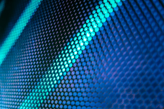 Écran Flou Led Closeup. Fond De Mise Au Point Douce Led. Fond Abstrait   Photo Premium