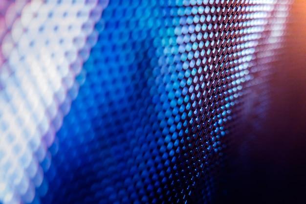 Écran flou led closeup. fond de mise au point douce led. fond abstrait idéal pour la conception.