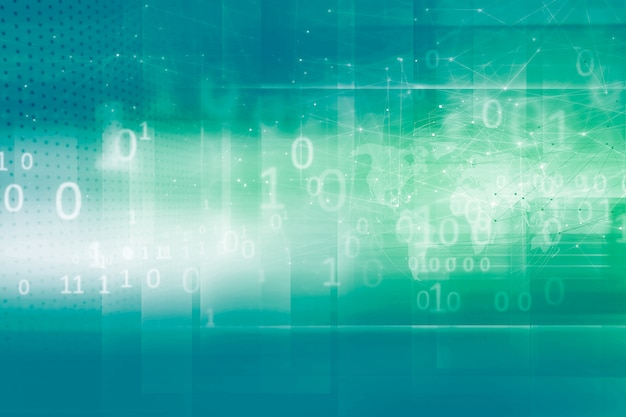 Écran de haute technologie avec codes binaires numériques