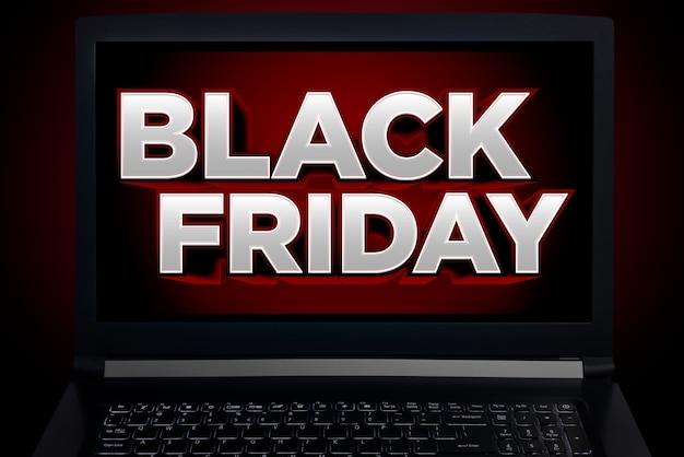 Écran pour ordinateur portable avec promotion du vendredi noir