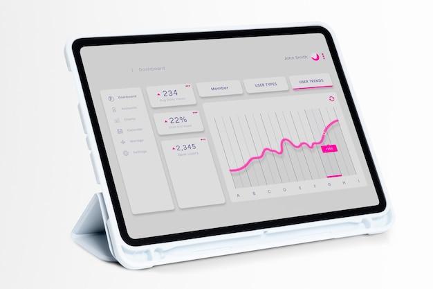Écran de tablette numérique smart tech
