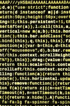 Écrire du code de programmation sur un ordinateur portable. données binaires numériques sur écran d'ordinateur