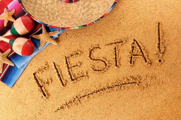 écriture fiesta beach