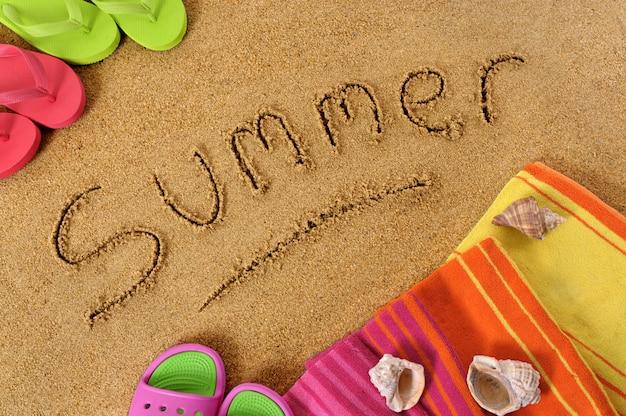 Écriture plage d'été