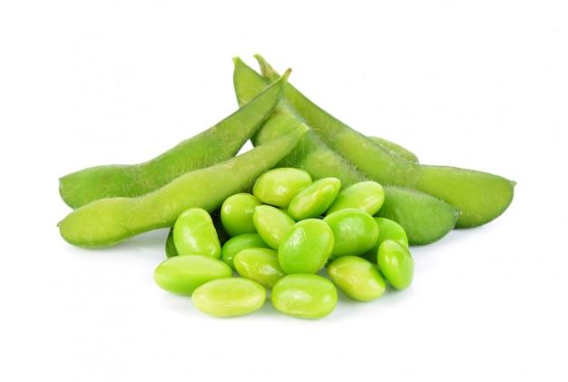 Edamame, fèves de soja vertes bouillies, cuisine japonaise