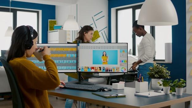 Editeur graphique retouchant les photos d'un client sur pc performance