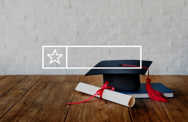 Education, apprentissage, connaissance, bannière, cadre