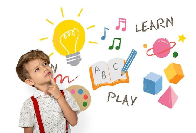Éducation, étude, enfance, compétence, mot