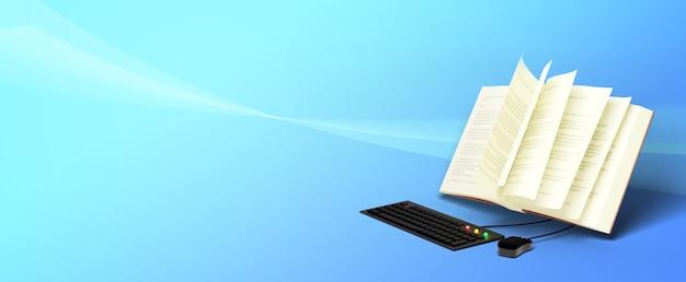 Éducation numérique en ligne. 3d de jeu d'ordinateur et livre sur l'apprentissage sur téléphone, ordinateur.