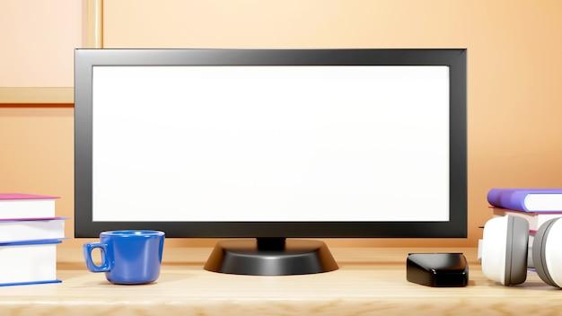 Éducation numérique en ligne. 3d de jeu d'ordinateur et de livres sur l'apprentissage sur téléphone, ordinateur.