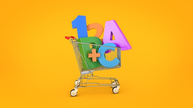 Éducation shopping rendu 3d
