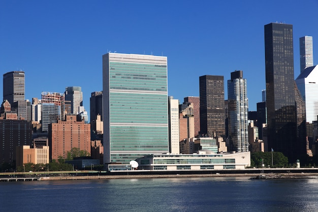 Eeast river à new york, états-unis