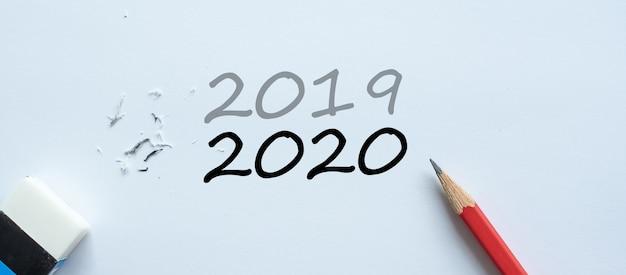 Effacer le changement de texte de 2019 jusqu'en 2020