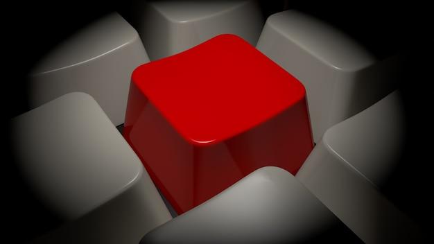 Effacer le clavier avec le bouton rouge. rendu 3d