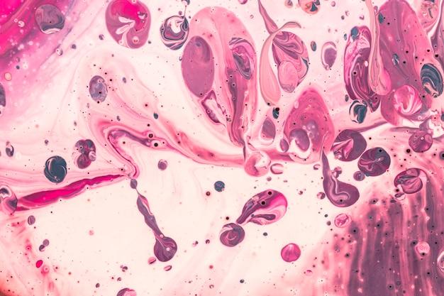 Effet acrylique abstrait de bulles violettes
