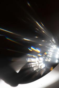 Effet de fuite de lumière sur fond noir