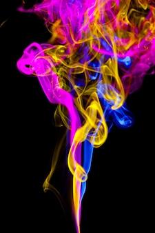 Effet de fumée coloré abstrait