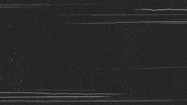 Effet glitch sur fond noir