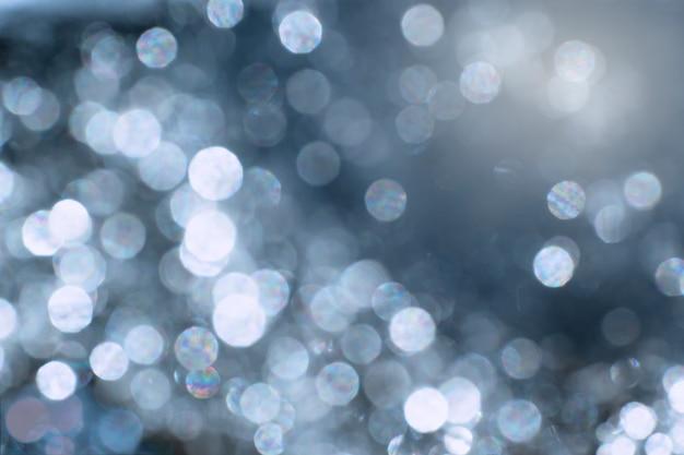 Effet de lumière bokeh abstrait bleu sur fond