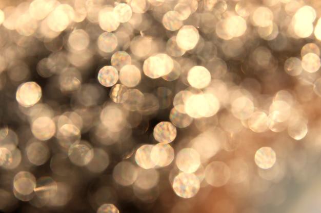 Effet de lumière bokeh abstrait or sur