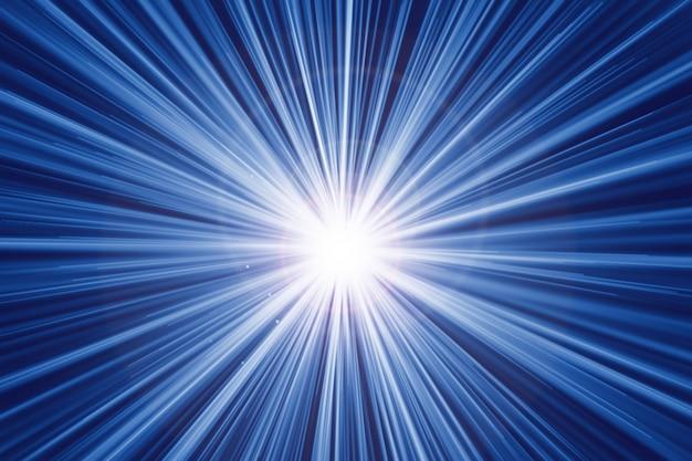 Effet de lumière effet de zoom rapide abstrait