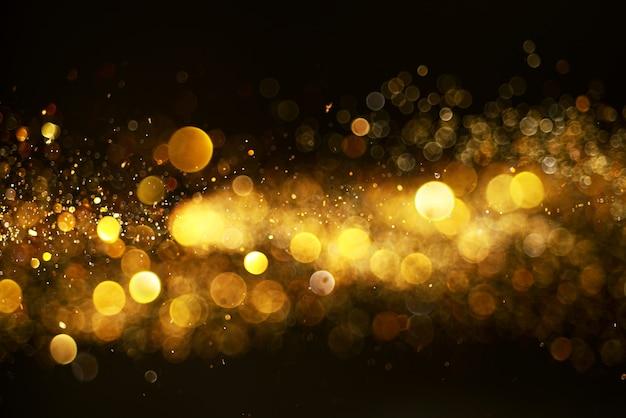 Effet lumineux défocalisé abstrait or de noël