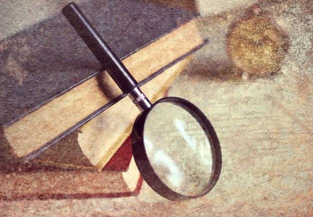 Effet photo vieux livre rétro sale
