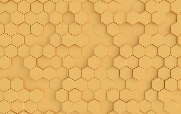 Effet De Profondeur De Champ Abstrait Hexagonal Photo Premium