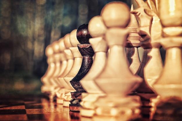 Effet rétro texturé photo du concept d'échecs à bord