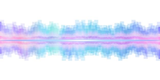 Effet sonore de l'égaliseur d'ondes sonores illustration 3d dj