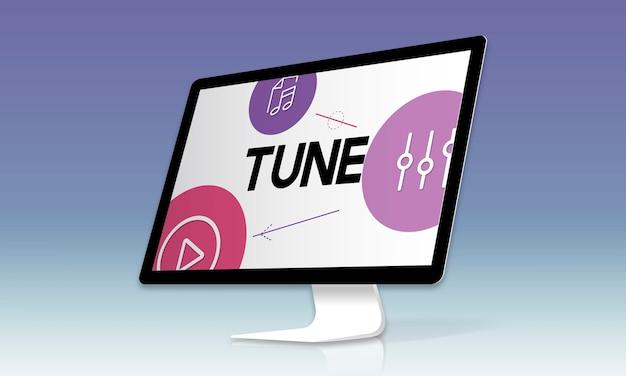 Égaliseur de divertissement multimédia en streaming de musique