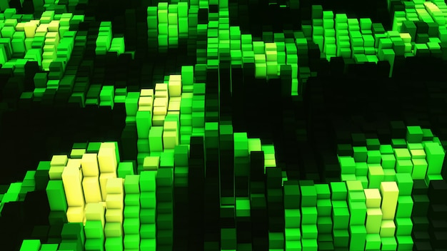 Égaliseur vj green glow