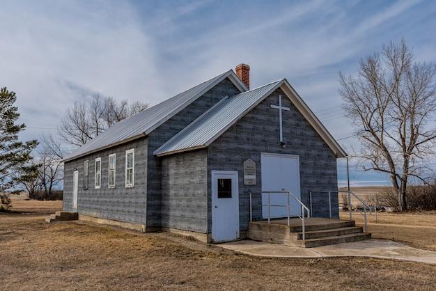 L'église abandonnée de shamrock united à shamrock, saskatchewan, canada