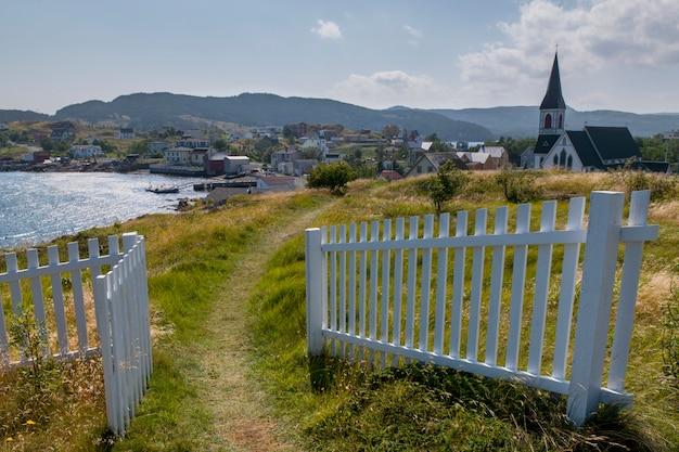 Église anglicane st. paul's à trinity, dans la péninsule de bonavista, terre-neuve et labrador, canada
